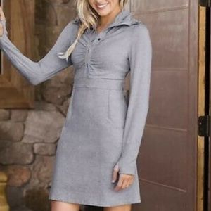 Athleta Grey Cozy Up Long Sleeve Dress